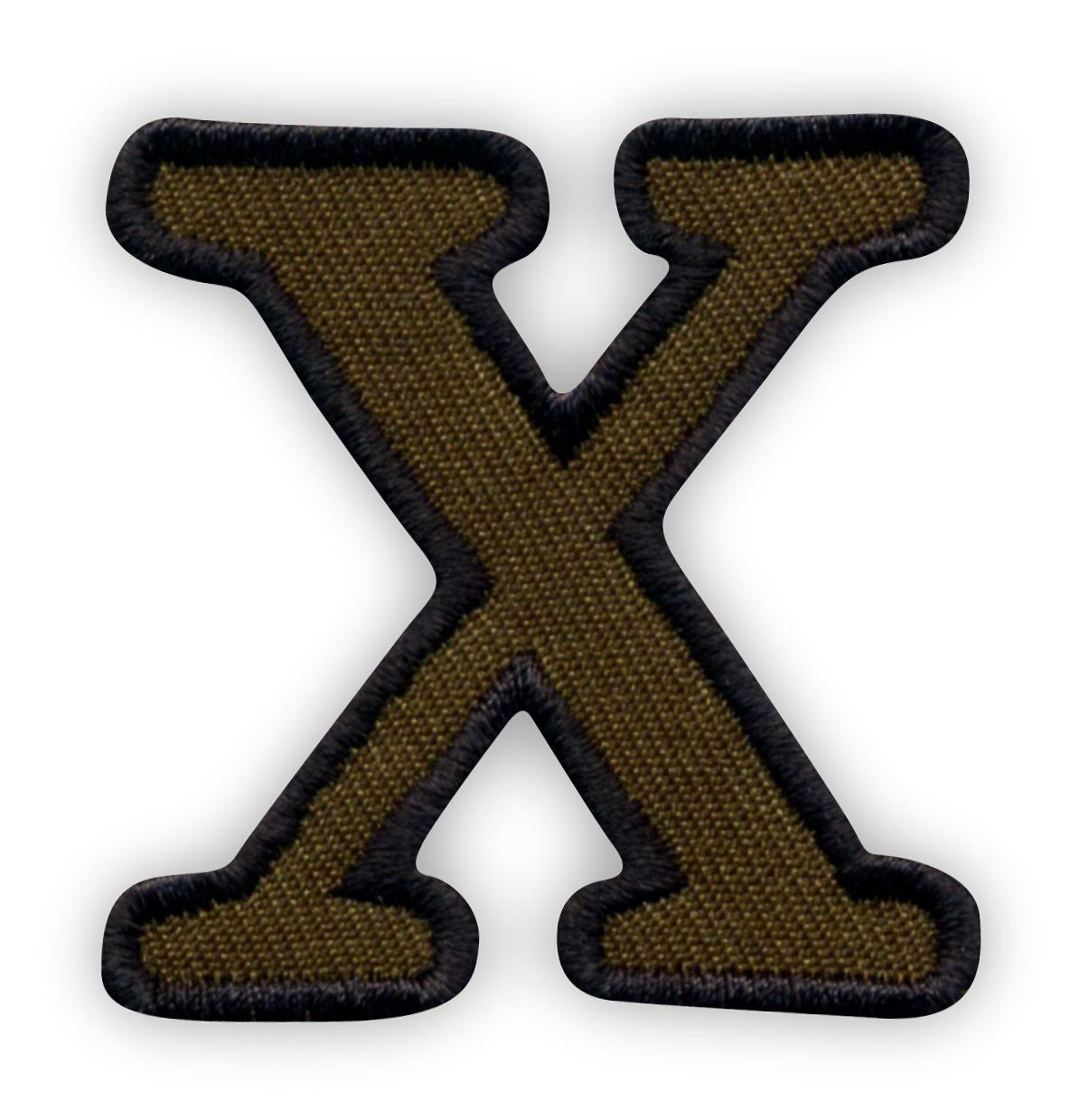 Litera X Oliwkowe Tło Czarne Obszycie Naszywki24pl Sklep