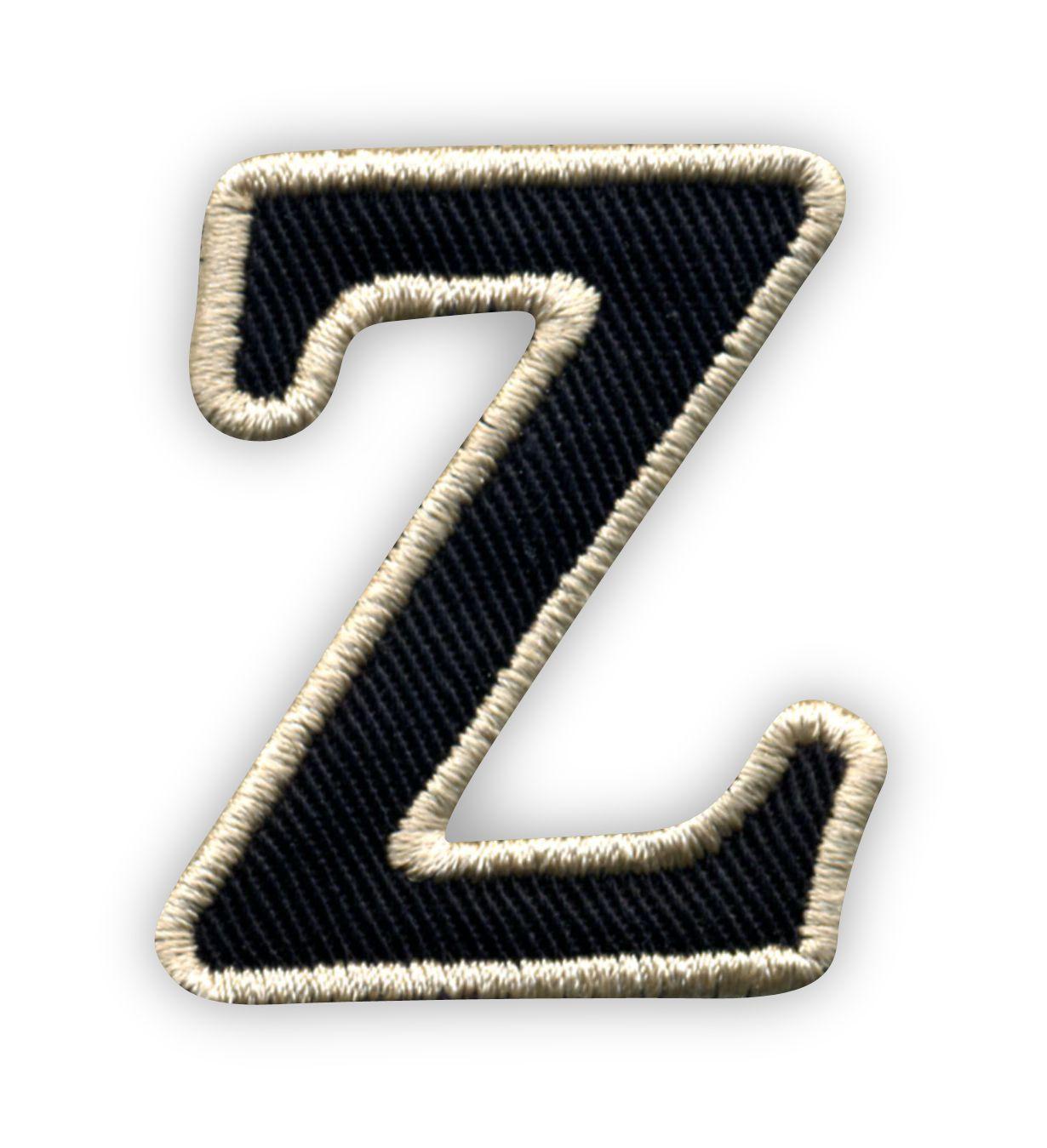 Litera Z Czarne Tło Beżowe Obszycie Naszywki24pl Sklep